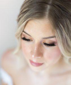 Closeup of Makeup on Beautiful Model